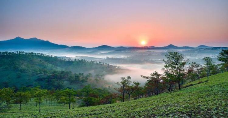 Ngắm Đà Lạt đẹp nao lòng trong buổi sớm bình minh